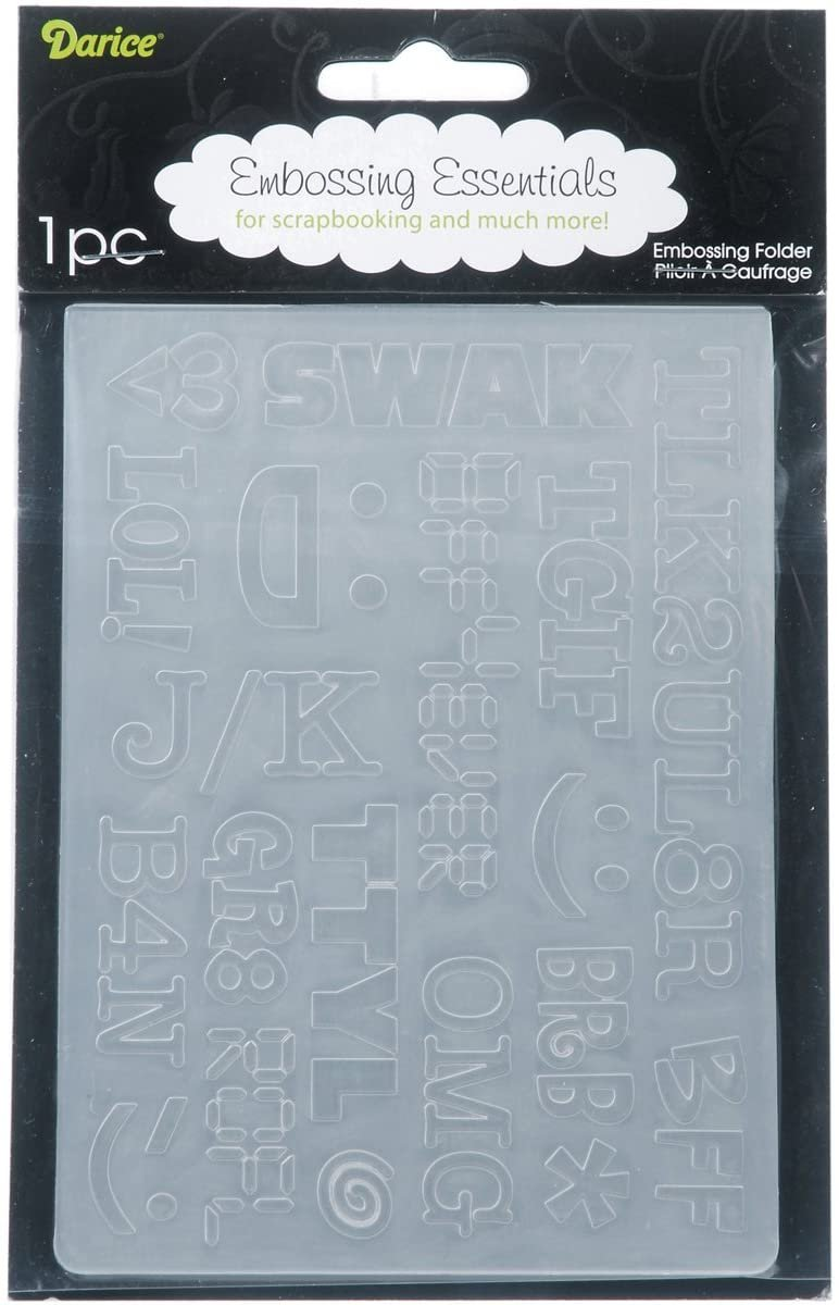 Embossing Folder, 4.25x5.75- Texting Acronyms