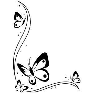 Embossing Folder, 4.25x5.75- Butterflies in Corner