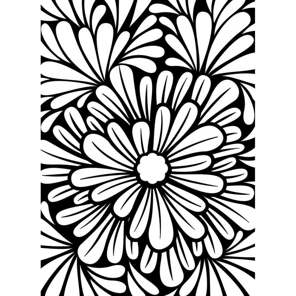Embossing Folder, 4.25x5.75- Bold Floral