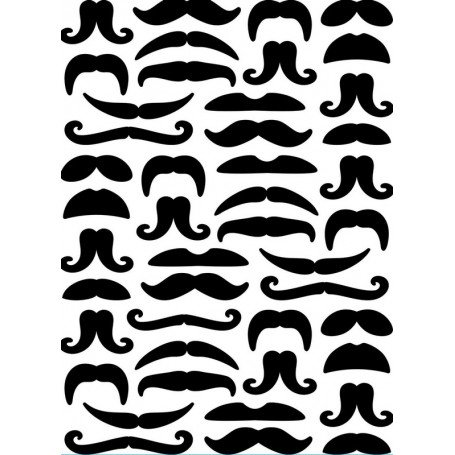 Embossing Folder, 4.25x5.75- Moustaches