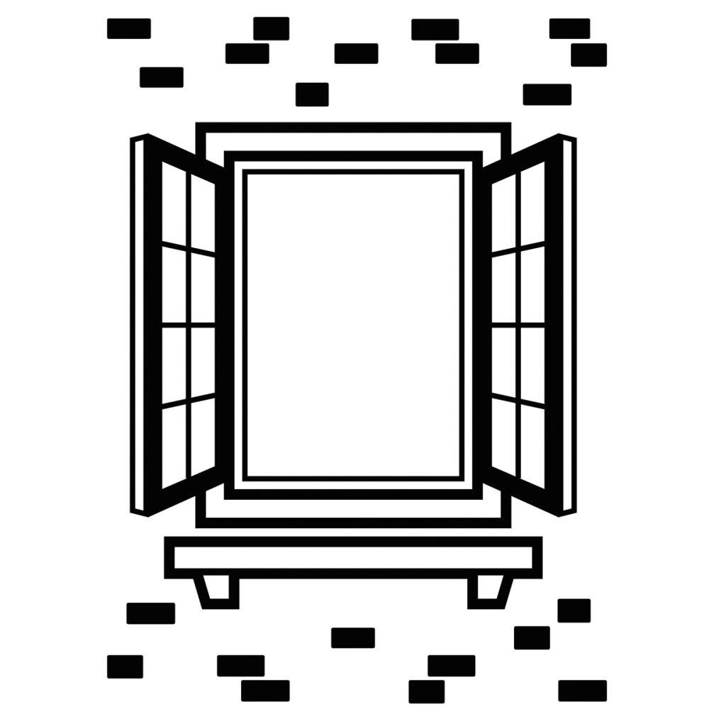 Embossing Folder, 4.25x5.75- Window Shutter