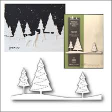 POP-1304 Stitched Evergreen trees