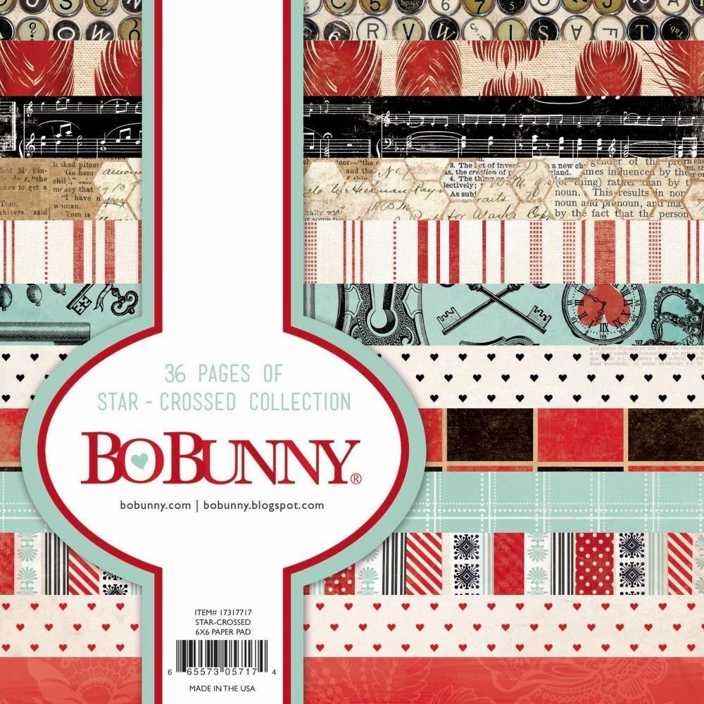 BoBunny Single-Sided Paper Pad 6X6 36/Pkg-Star Crossed, 12 Designs/3 Each