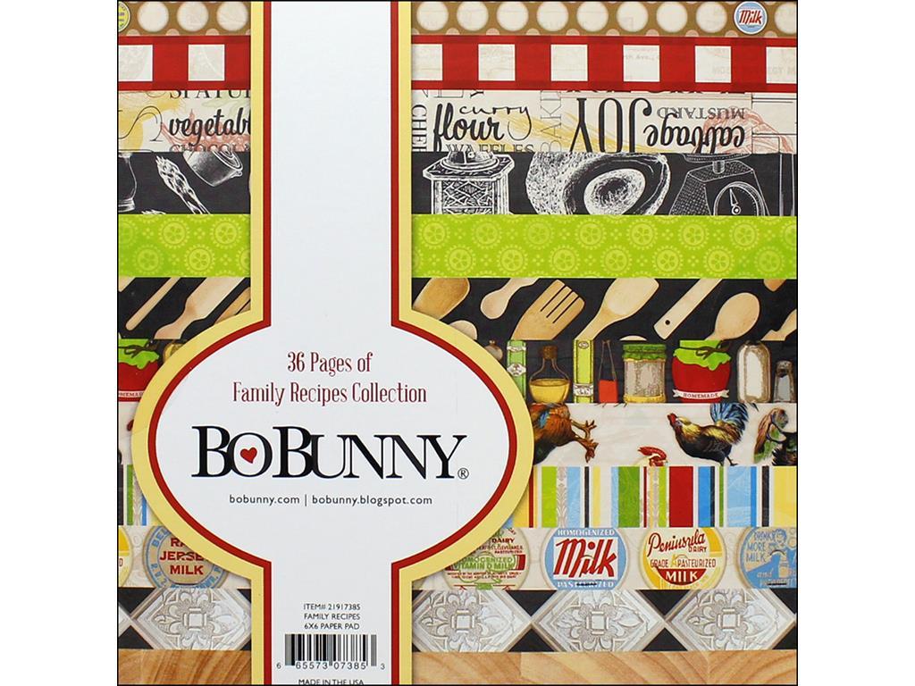 BoBunny Single-Sided Paper Pad 6X6 36/Pkg-Family Recipes, 12 Designs/3 Each