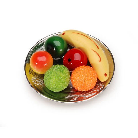 Dollhouse Miniature Fruit Plate Bowl