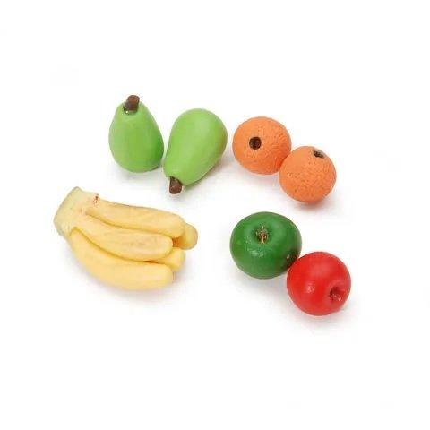 Dollhouse Miniature Mini Assorted Fruit Apple Orange Banana Pear 7pc