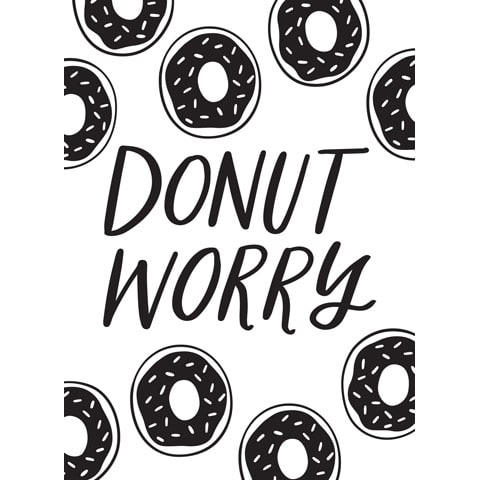 Darice® Embossing Folder - Donut Worry - 4.5 x 5.75