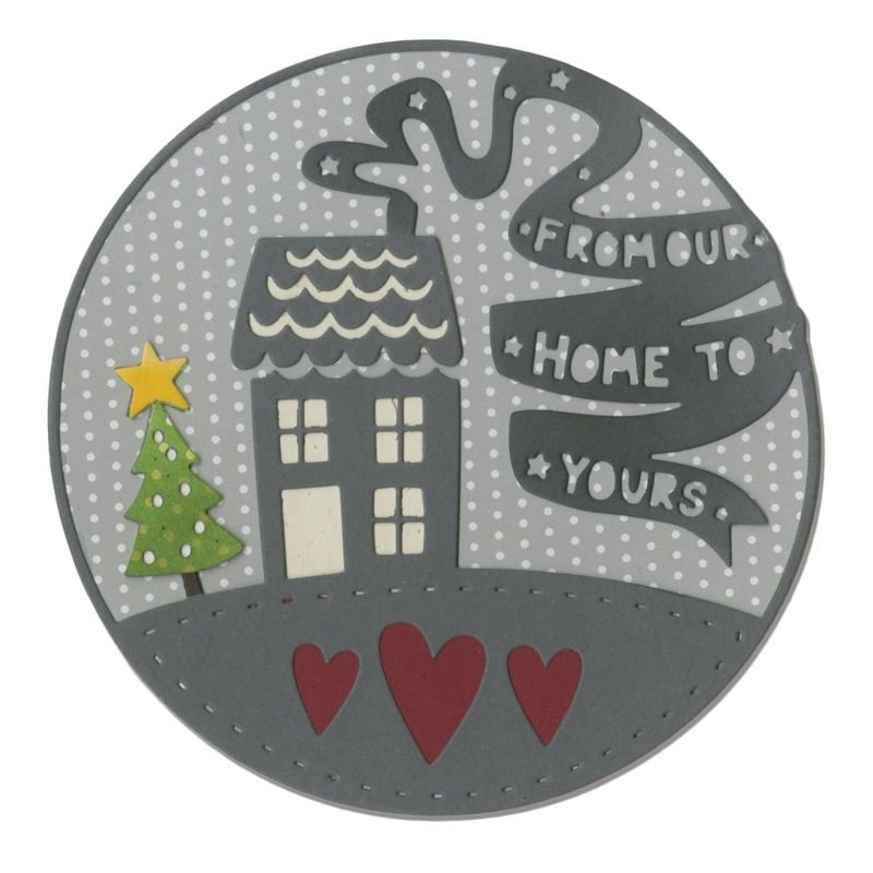 Sizzix Thinlits Die - From Our Home to Yours