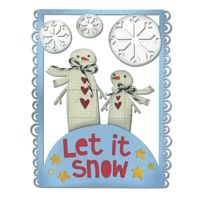 Sizzix Thinlits Die - Let it Snow