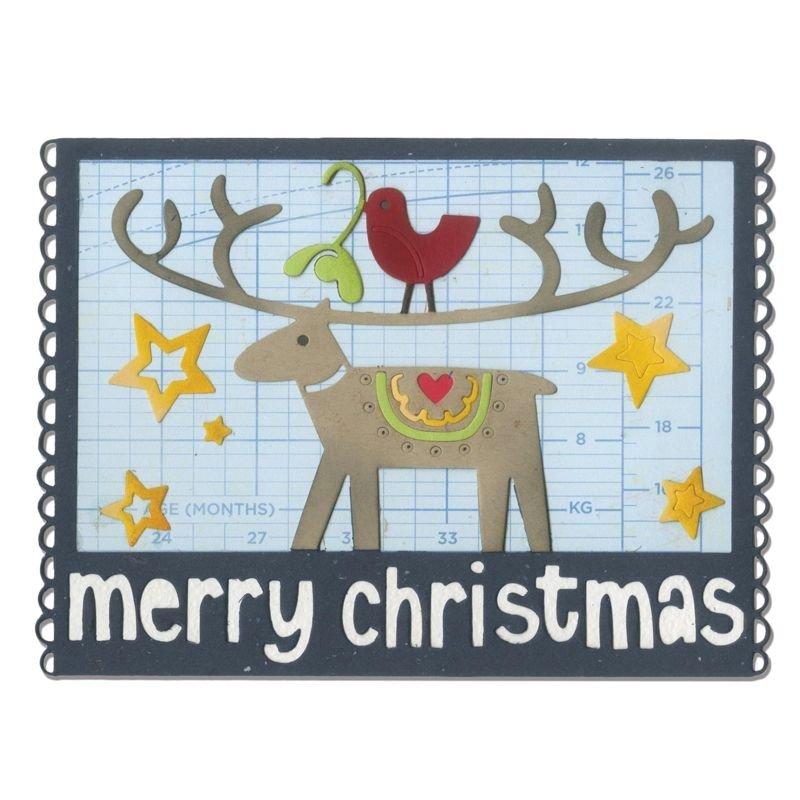 Sizzix Thinlits Die - Merry Christmas
