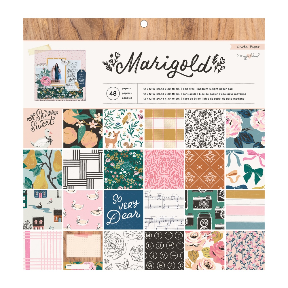 12X12 Paper Pad, Marigold