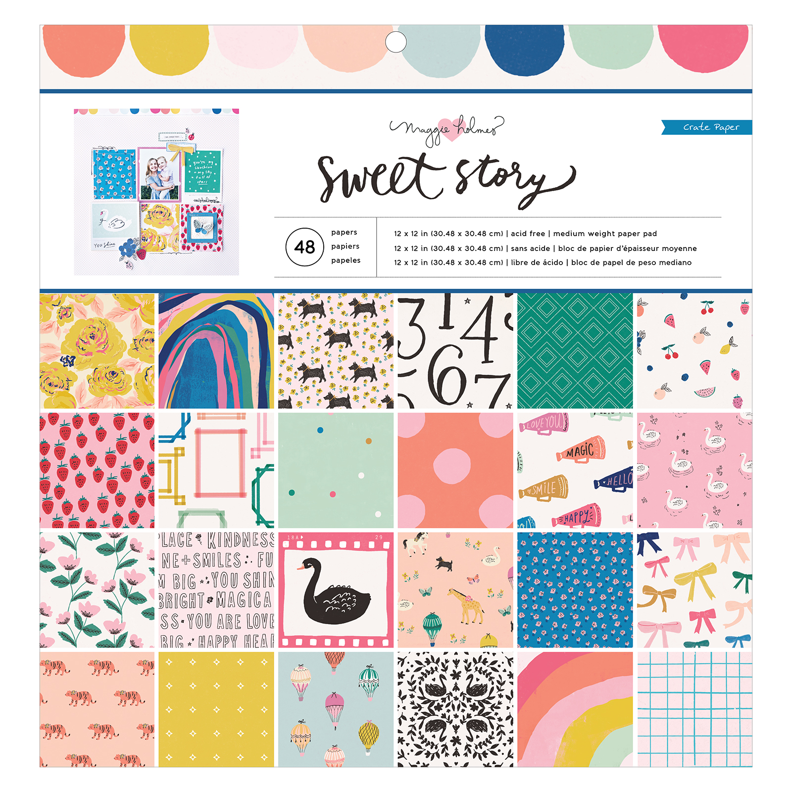 12X12 Paper Pad, Sweet Story
