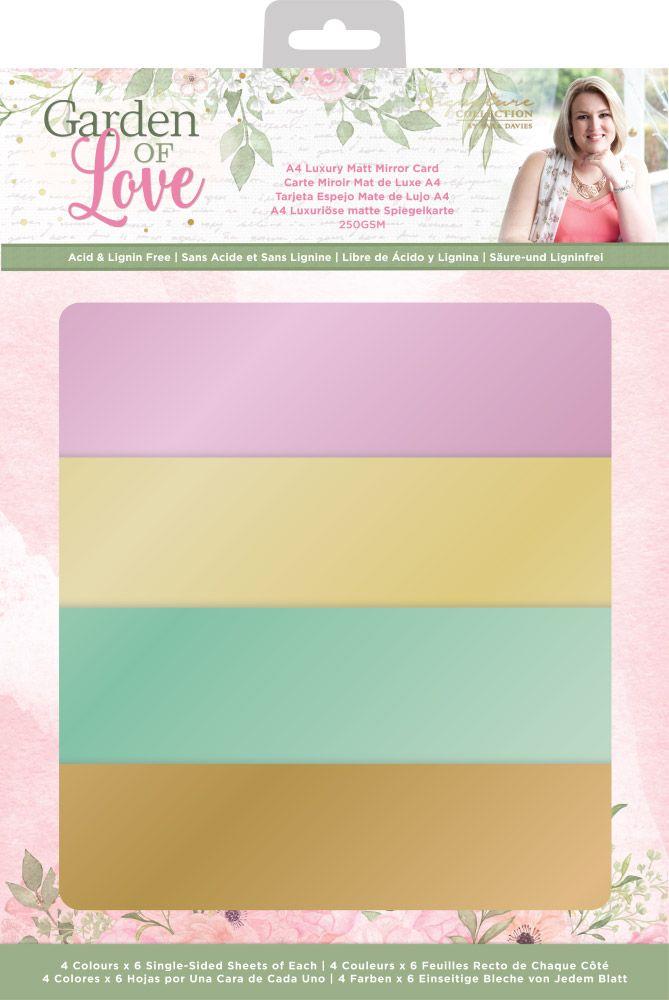 Sara Signature Luxury Matte Mirror Cardstock, Garden of Love