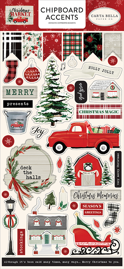 Chipboard Accents, Christmas Market