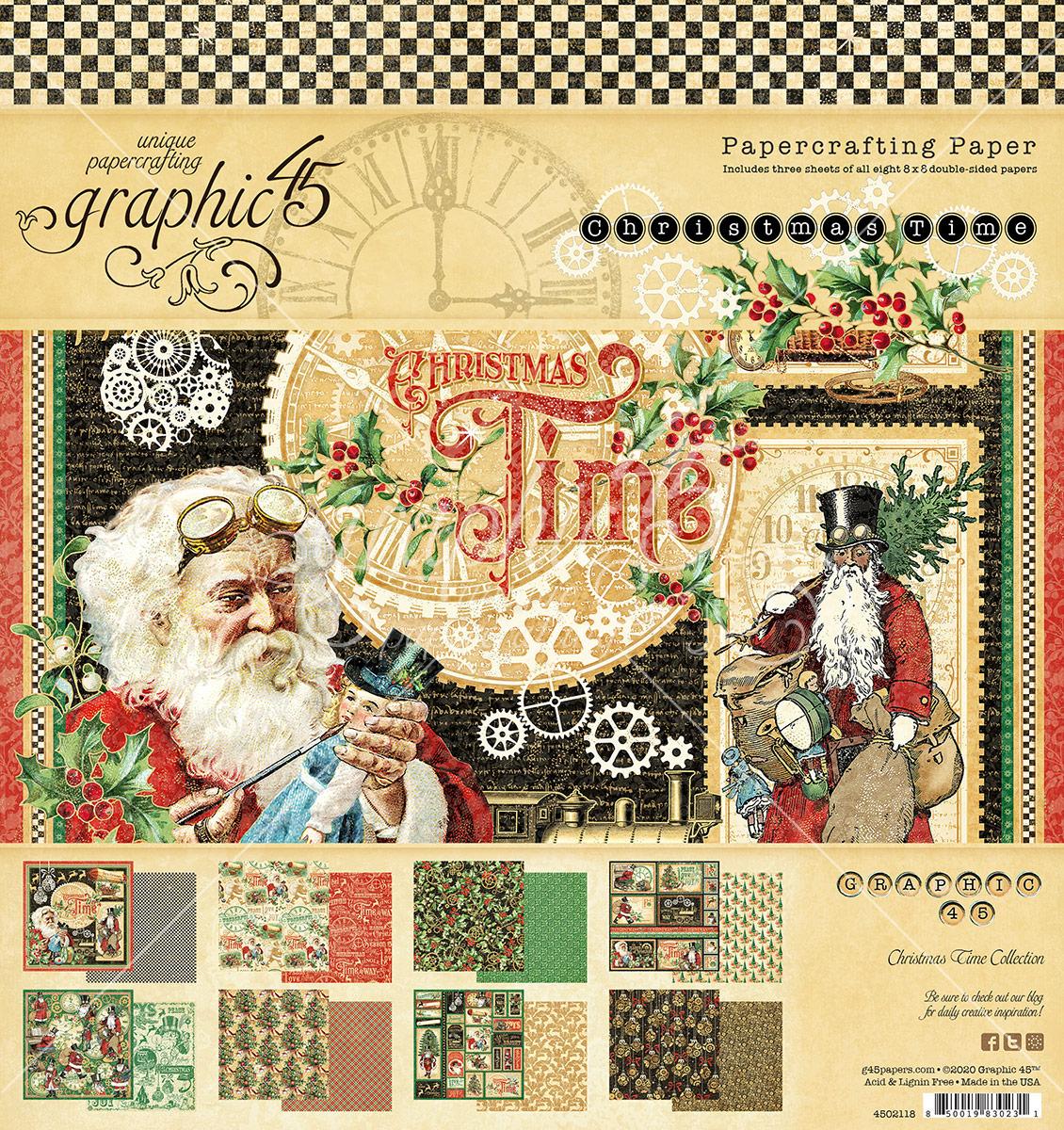 8X8 Paper Pad, Christmas Time