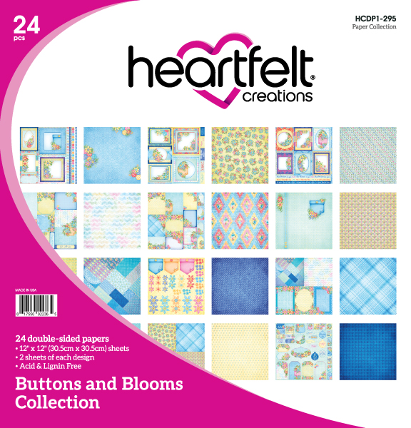 12X12 Paper Collection, Buttons and Blooms