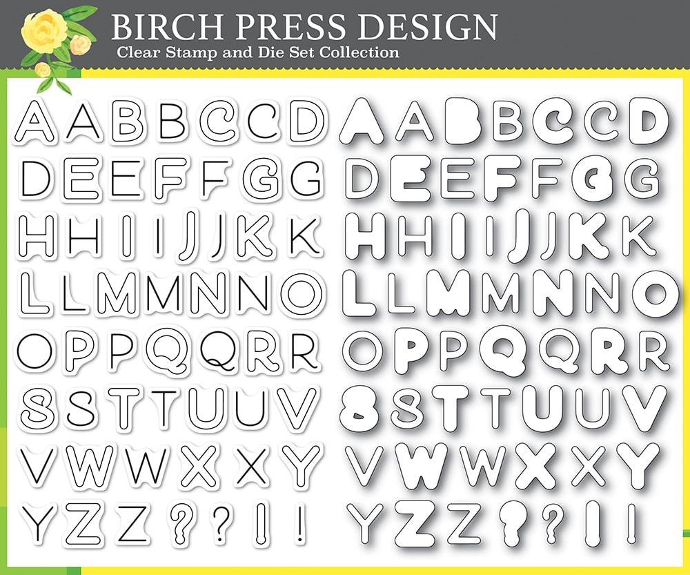 Clear Stamp & Die Set, Mod Alphabet
