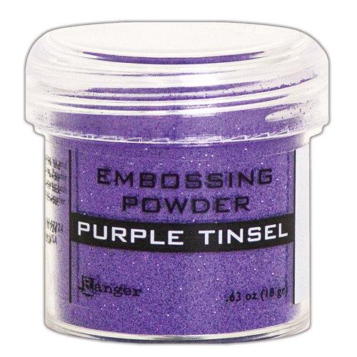 Embossing Powder, Purple Tinsel