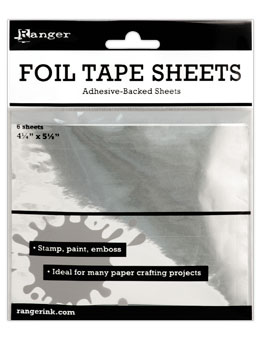 Metal Foil Tape Sheets - Post Card Size 4.25x5.5 (6 Per Pack)