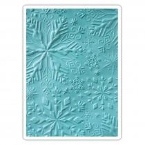 Folder, Textured Impressions 3D, Winter Snowflakes