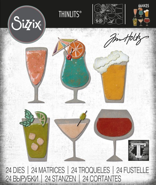 Thinlits Die Set, Happy Hour (24pk)