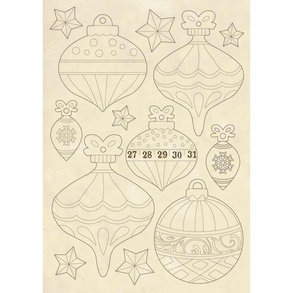 A5 Wood Shapes, Christmas Balls