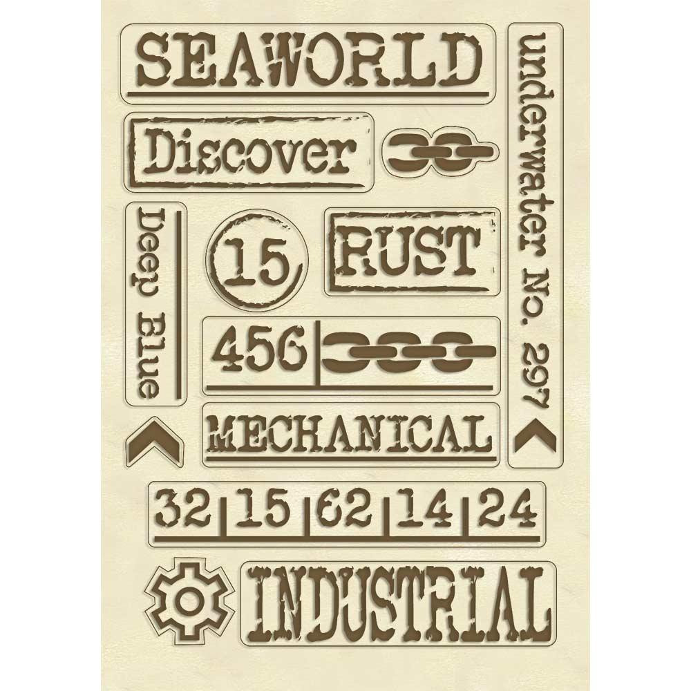 A5 Wood Shapes, Sea World Writings