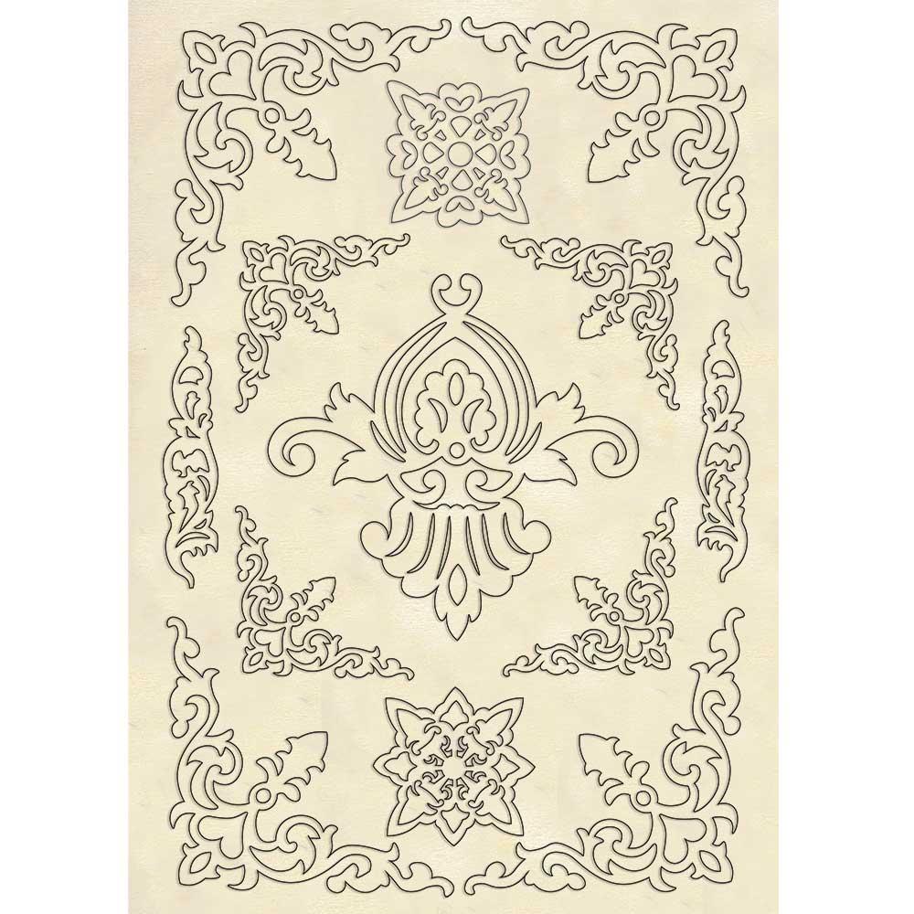 A5 Wooden Shapes, Princess - Ornaments