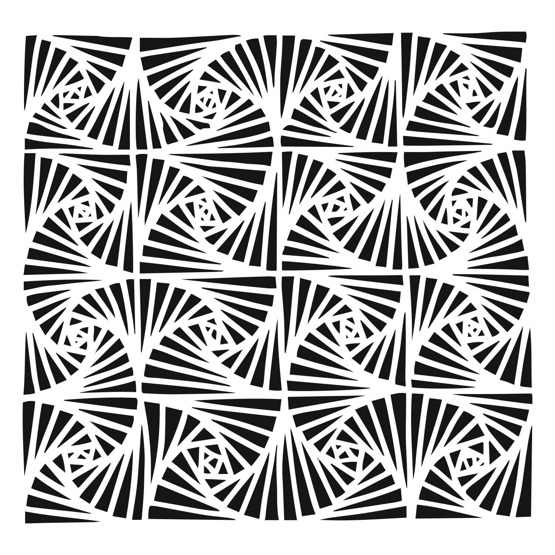 Stencil, 6x6, Fantangle