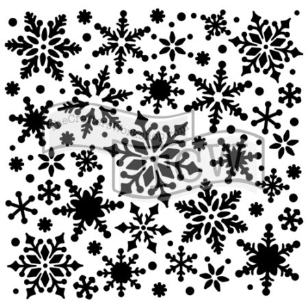 Stencil, 6X6, Snowflakes