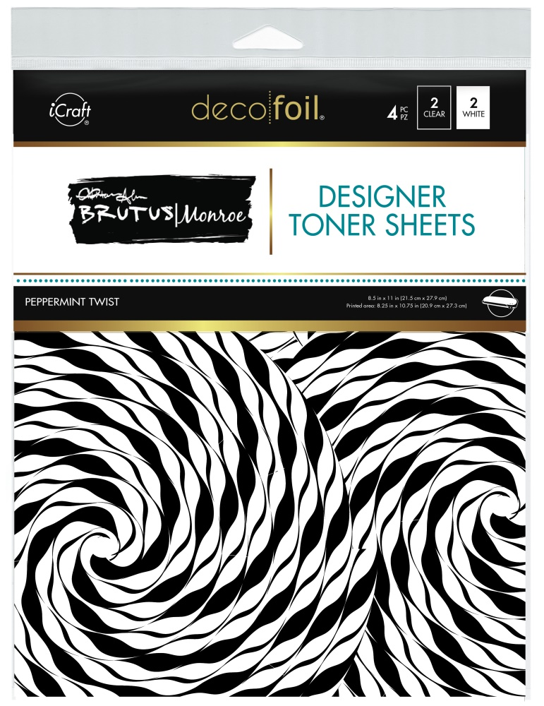 Deco Foil Designer Toner Sheets, Peppermint Twist