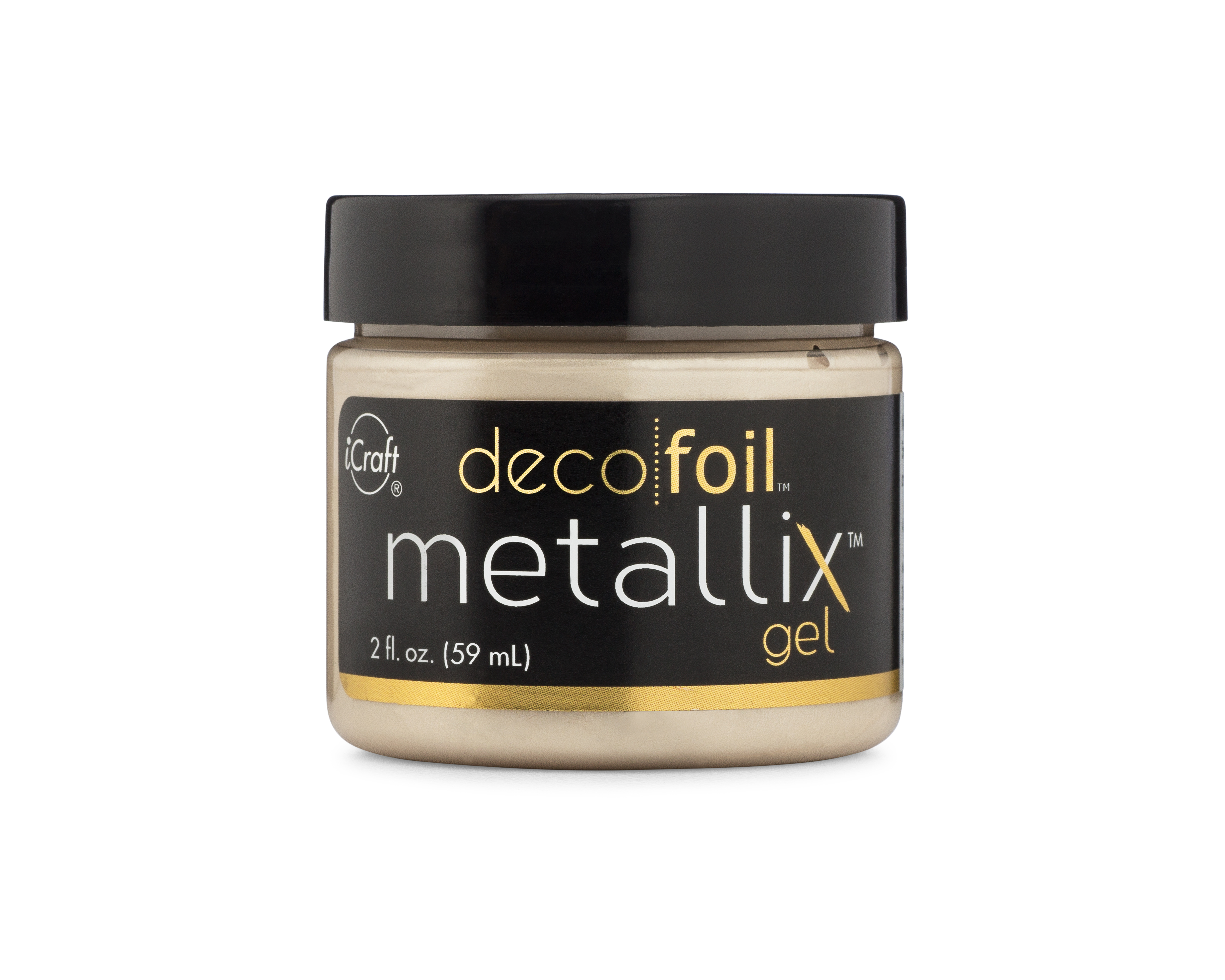 Deco Foil Metallix Gel, Champagne Mist (2 fl oz)