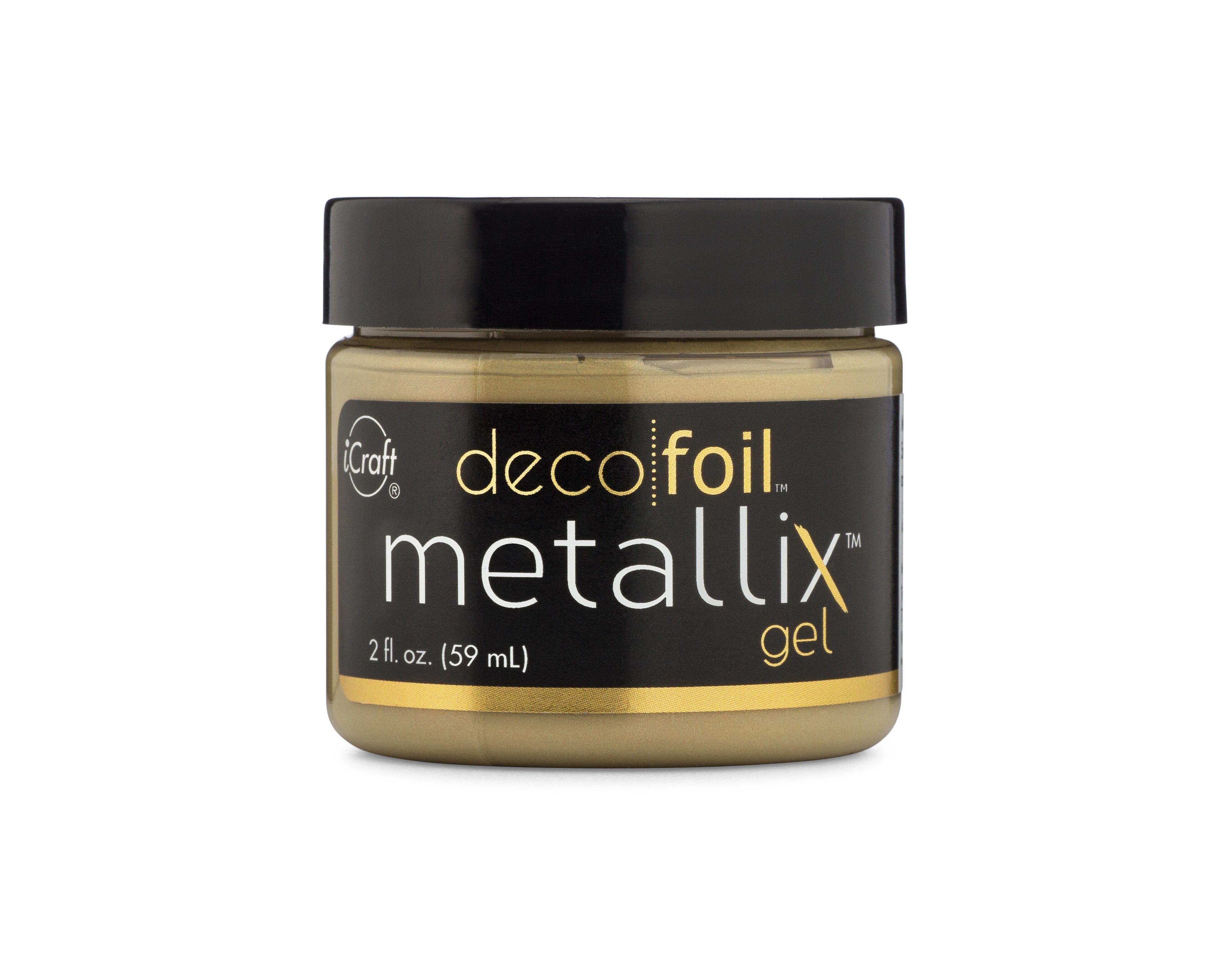 Deco Foil Metallix Gel, Pure Gold (2 fl oz)