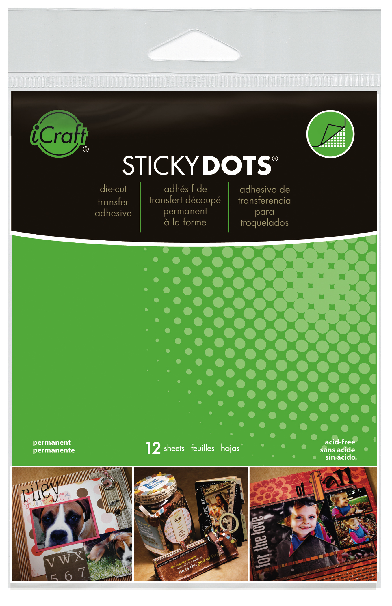 Sticky Dots Adhesive Sheets (4.25x5.5)