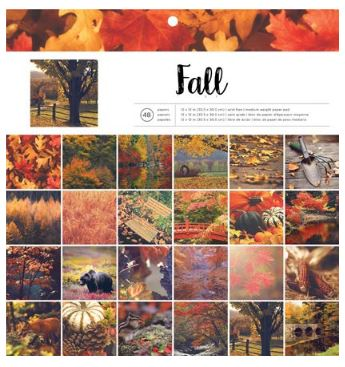 12X12 Paper Pad, Photo Real - Fall (48 pages)