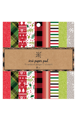 6X6 Paper Pad, Holiday (18 Sheets)