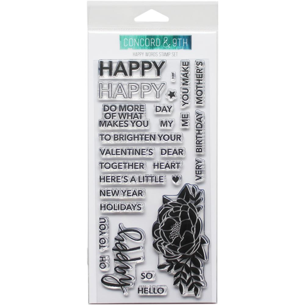 Clear Stamp, Happy Words Set