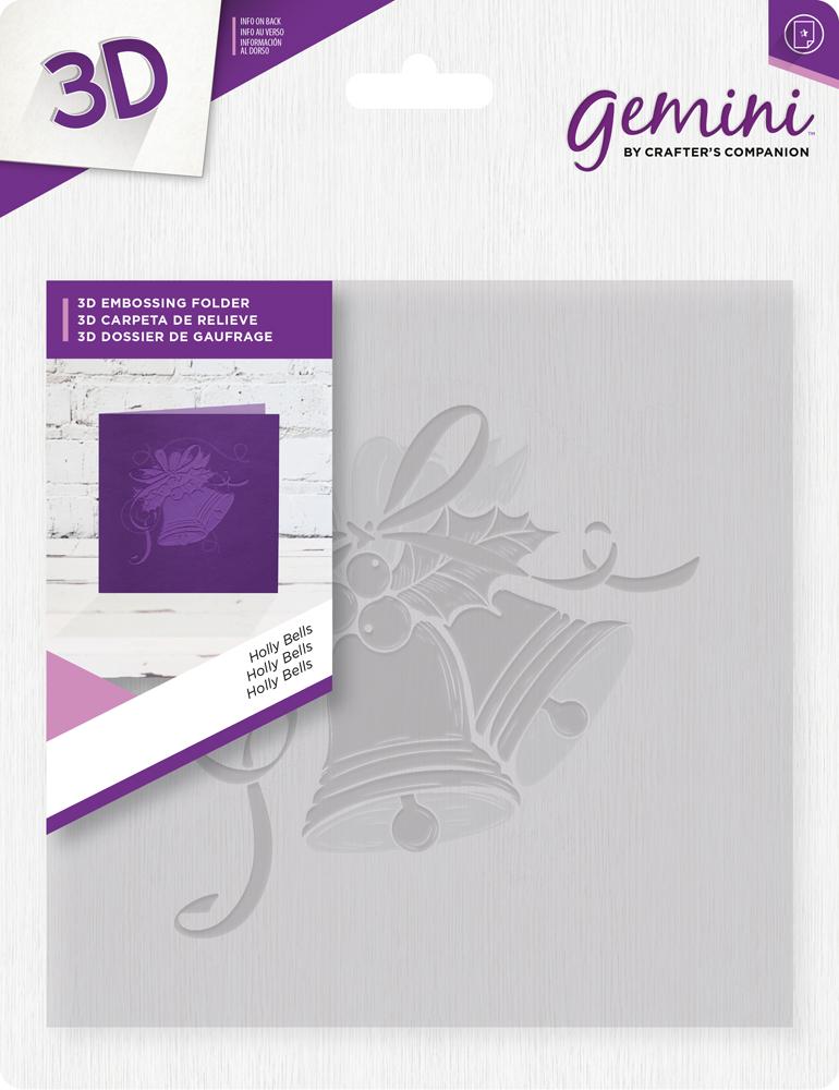 Gemini 3D Emb. Folder - Holly Bells