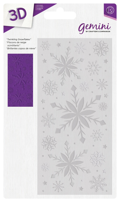 Gemini 3D Emb. Folder - Twinkling Snowflakes