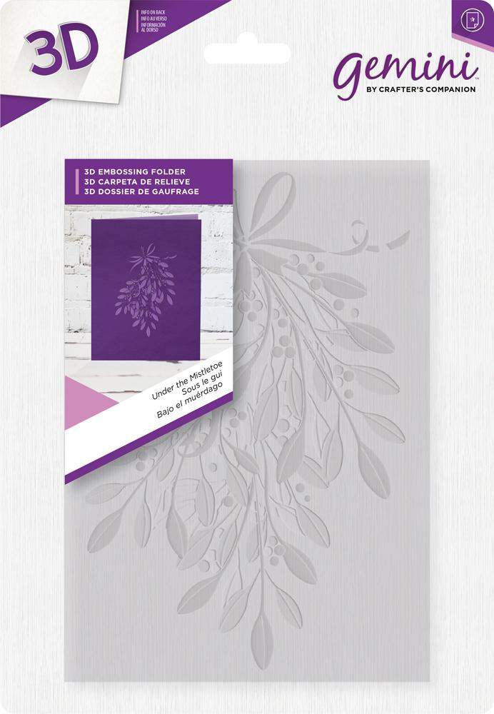 Gemini 3D Emb. Folder - Under the Mistletoe