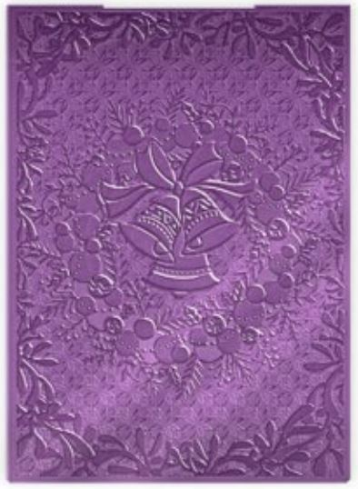 Crafter's Companion 3D Embossing Folder- Jingle Bell Wreath