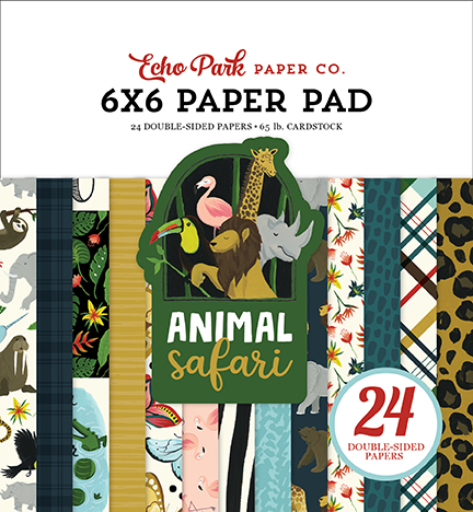 6X6 Paper Pad, Animal Safari