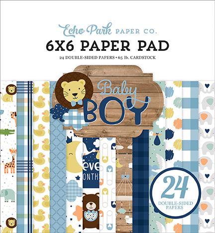6X6 Paper Pad, Baby Boy