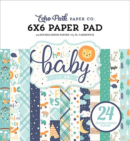 6X6 Paper Pad, Hello Baby Boy