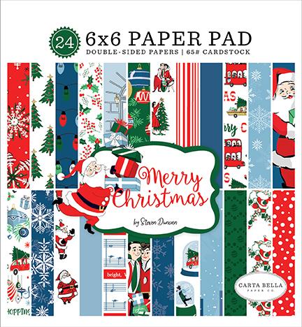 6X6 Paper Pad, Merry Christmas