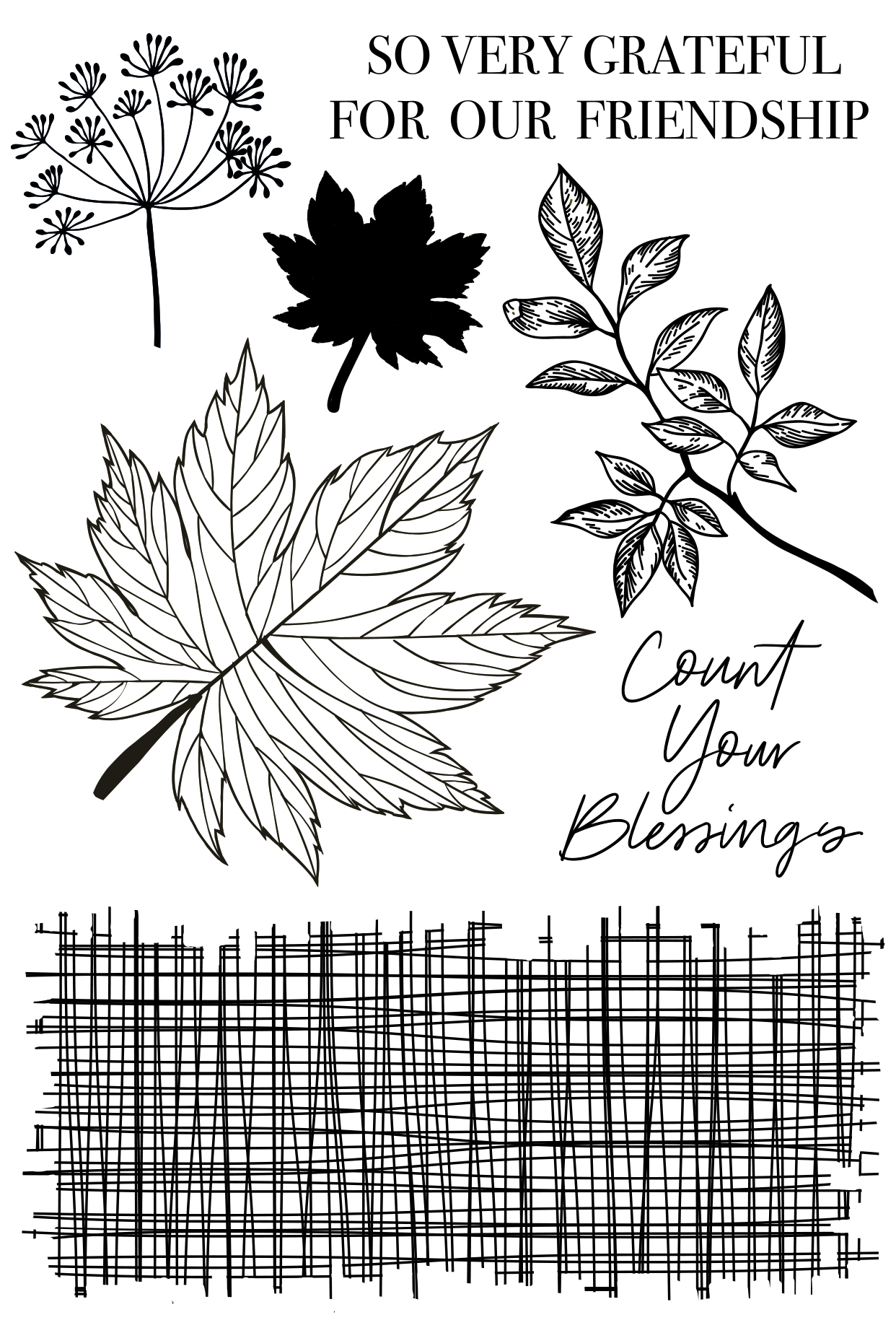 Clear Stamp, Fallen Leaves