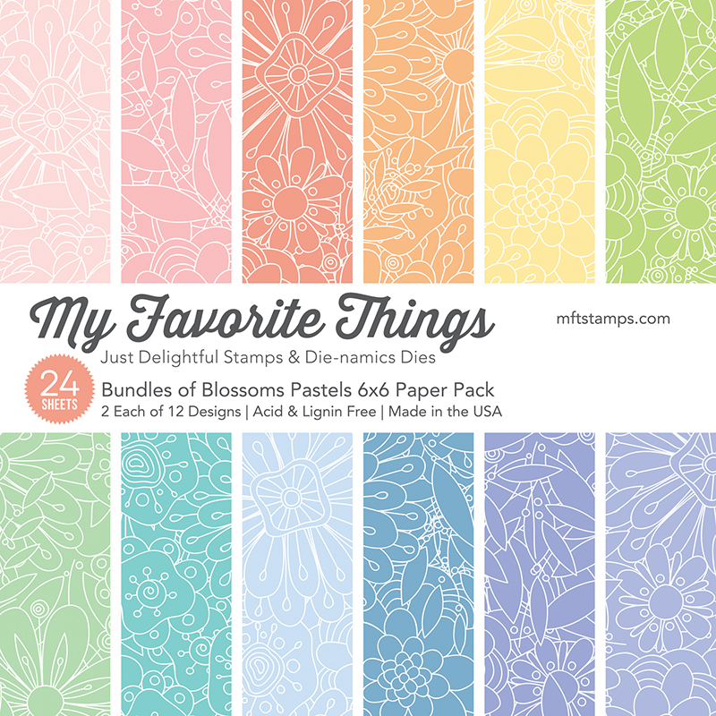 6X6 Paper Pad, Bundles Of Blossoms Pastels