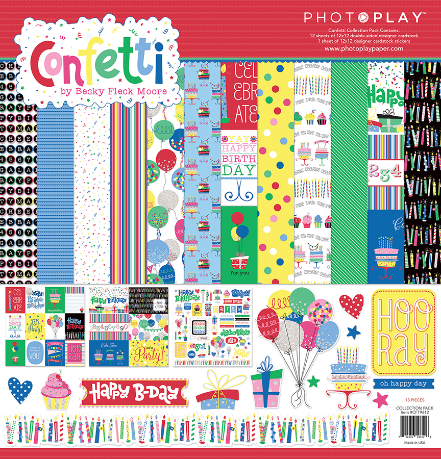 12X12 Collection Pack, Confetti