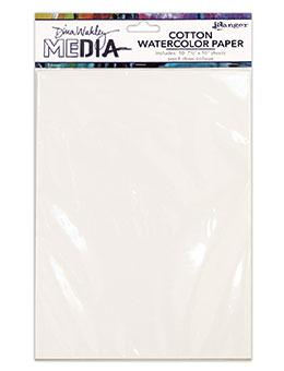 Paper Pack, Dina Wakley Media Cotton Watercolor Paper Pack