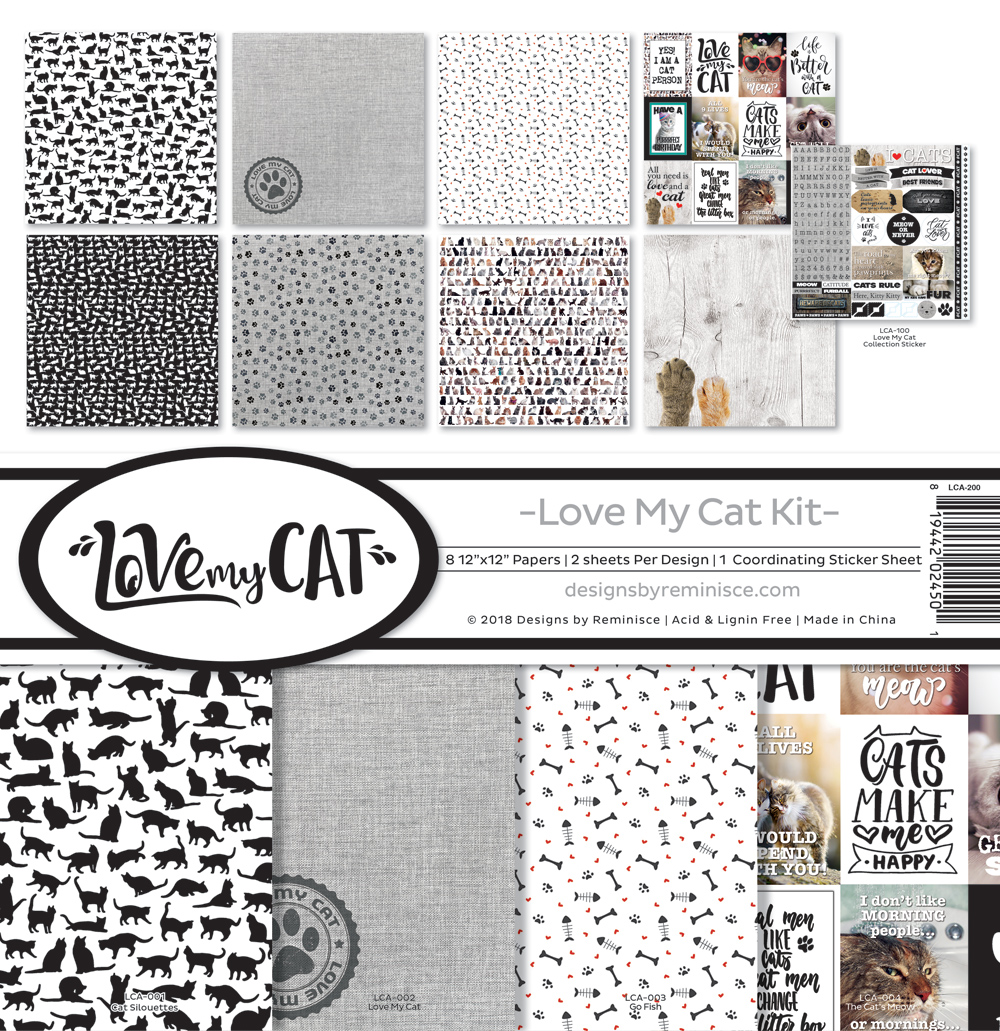 12X12 Collection Kit, Love My Cat